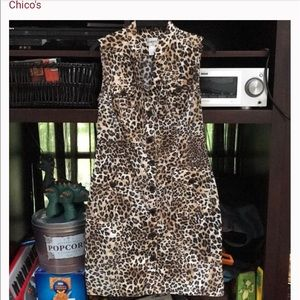 Chico's animal print dress 4